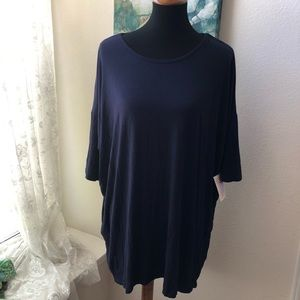 NWT LuLaRoe Navy Top Sz 2XL